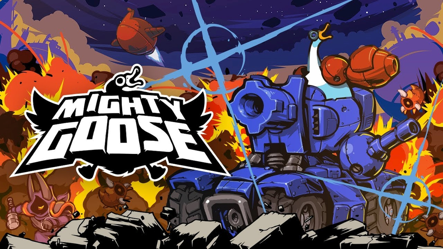 Playism Announced Fast-Paced Run And Gun Shooter Mighty Goose