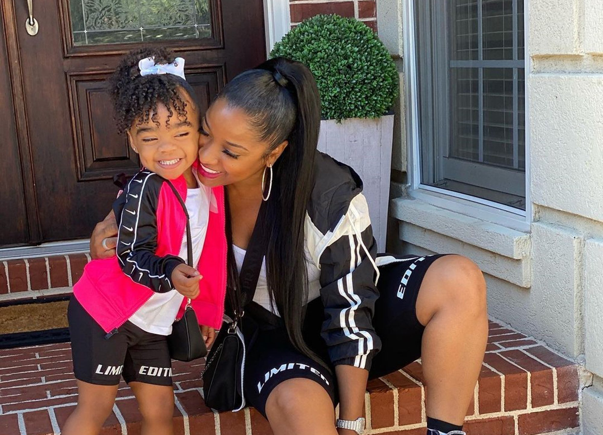 Toya Johnson Visited The Zoo With Baby Girl, Reign Rushing