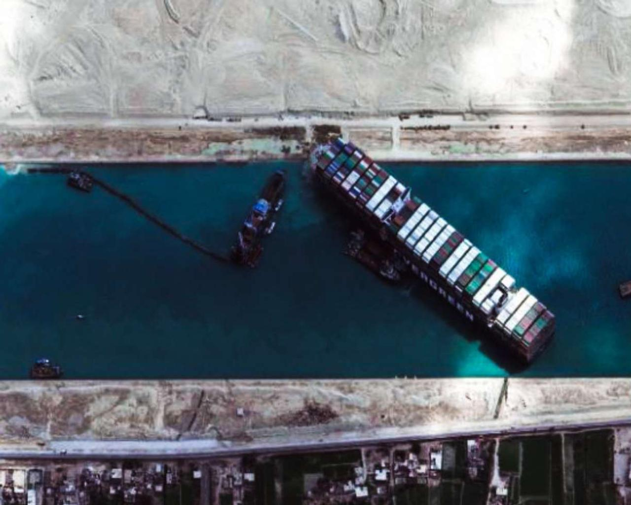 Suez Canal: The Ever Given container ship has started to move after a week of blockage.
