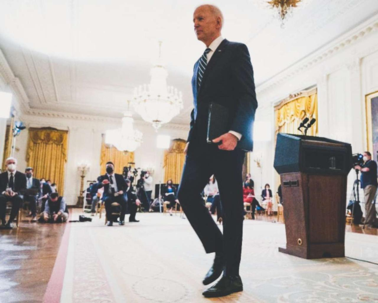 Biden plans to run for reelection and defends his immigration policy.