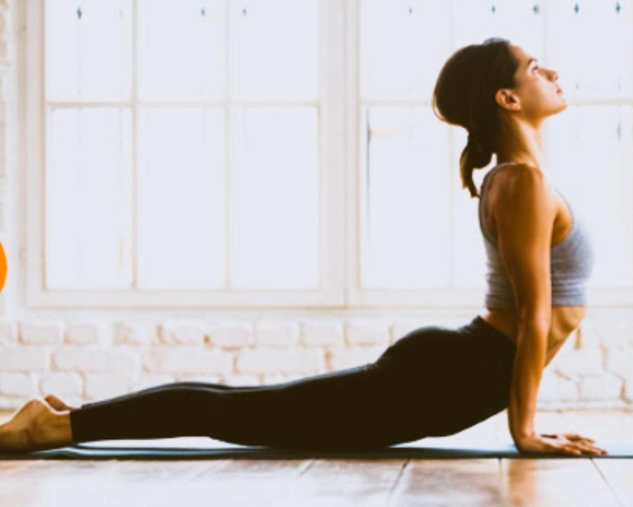 Five yoga poses to do in bed to fall asleep quickly.