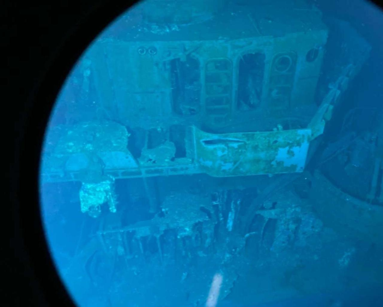 They found at 6,500 meters depth the remains of a U.S. ship sunk in the Philippines during World War II.