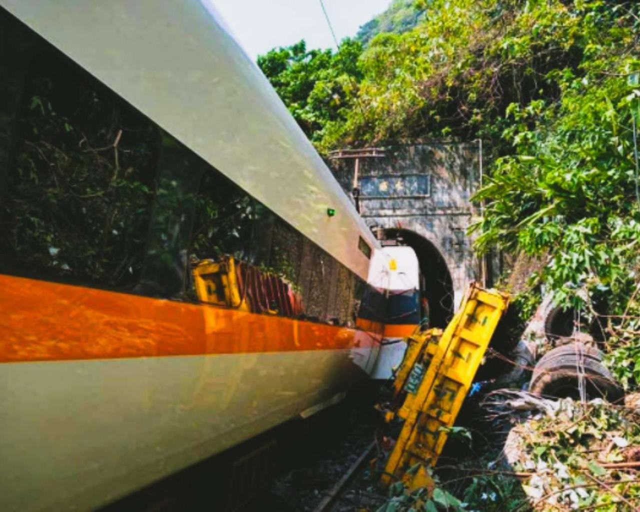 In Taiwan, at least 51 dead in a train accident due to handbrake.