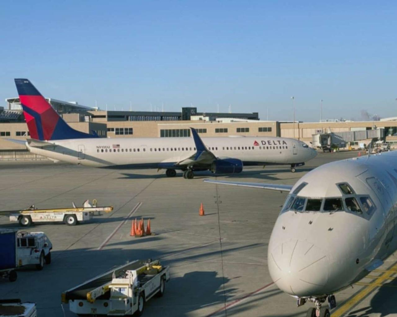 Delta cancels about 100 flights; some middle seats open.
